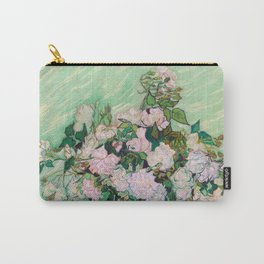 Pink Roses Van Gogh Carry-All Pouch