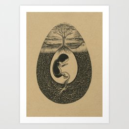 Natural Birth Art Print