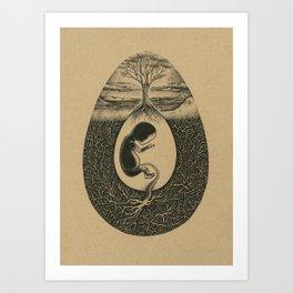 Natural Birth Art Print