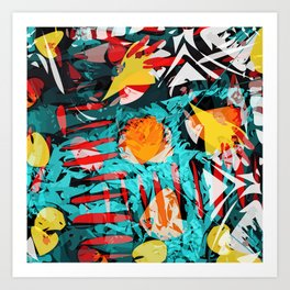 abstract colored chaos Art Print