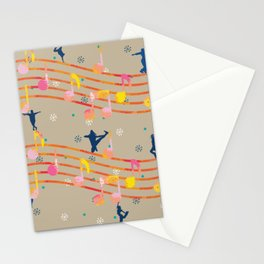 Music Notes Dancers Stationery Cards