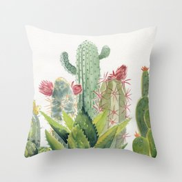 Cactus Watercolor Throw Pillow