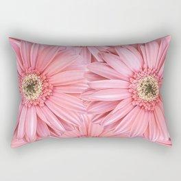 Pink Gerber Pattern   Flowers   Spring   Pop-art Rectangular Pillow