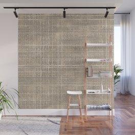 Beige Taupe Brown Jute Burlap Textile Pattern Wall Mural