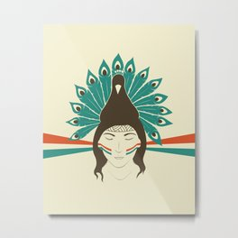 The princess and the peacock Metal Print