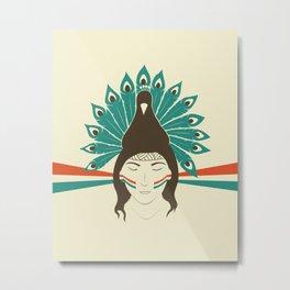 The princess and the peacock Metal Print