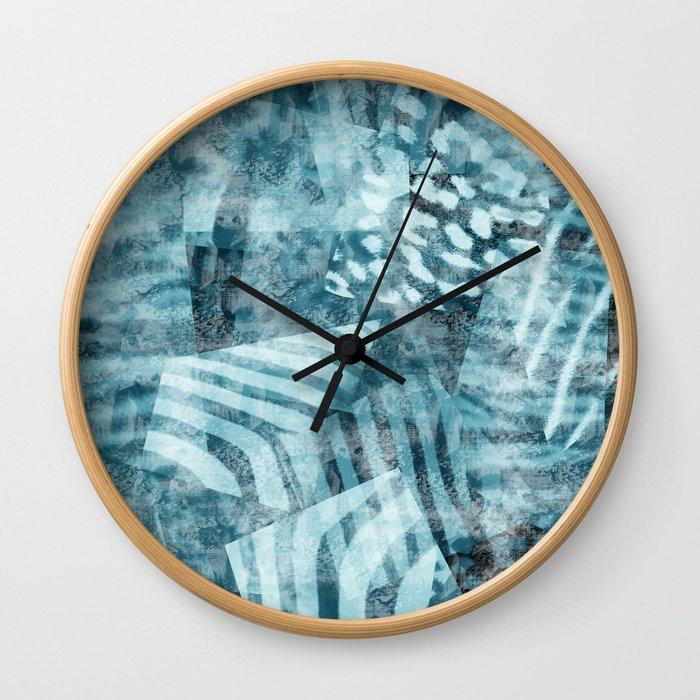 Blue safari Wall Clock