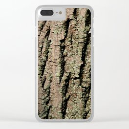 Tree Bark Wood Texture Clear iPhone Case