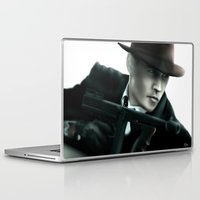 johnny depp Laptop & iPad Skins featuring Johnny Depp// John Dillinger by Greg Gonzalez
