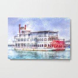 New Orleans Paddle Steamer Art Metal Print