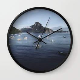 Te Philippines Islands in El Nido Palawan Wall Clock