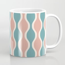 Ogee Pattern 735 Beige Turquoise and Dusty Rose Coffee Mug