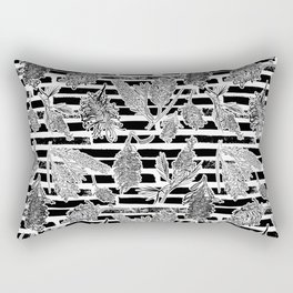 Beautiful Black and White Australiana Print Rectangular Pillow