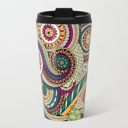 Abstract doodle floral pattern Travel Mug