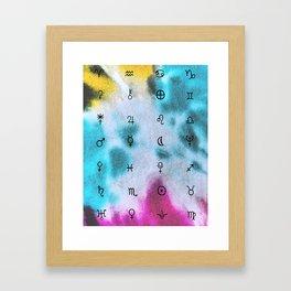 Tie - Dye Astrology Framed Art Print