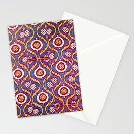 Silk Ikat Uzbekistan Parda Print Stationery Cards