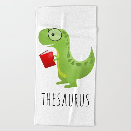 Thesaurus Beach Towel