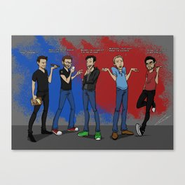 Rooster Teeth Founding Fathers Canvas Print