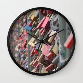 Locks locks and more love Wall Clock