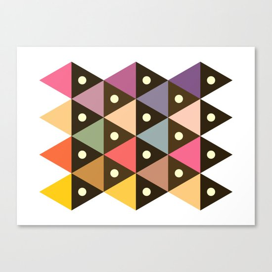 Cosmic Triangles Canvas Print