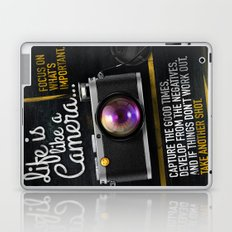 Life is like a Camera Laptop & iPad Skin