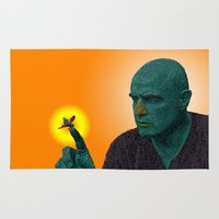 apocalypse now Area & Throw Rugs featuring Apocalypse Now Marlon Brando by CultureCloth