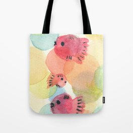 Red Goldfish's dreamy Bubble Tote Bag