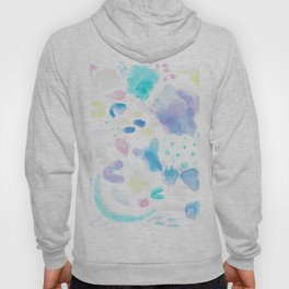 Pastel Watercolor Abstract Splatter Hoody