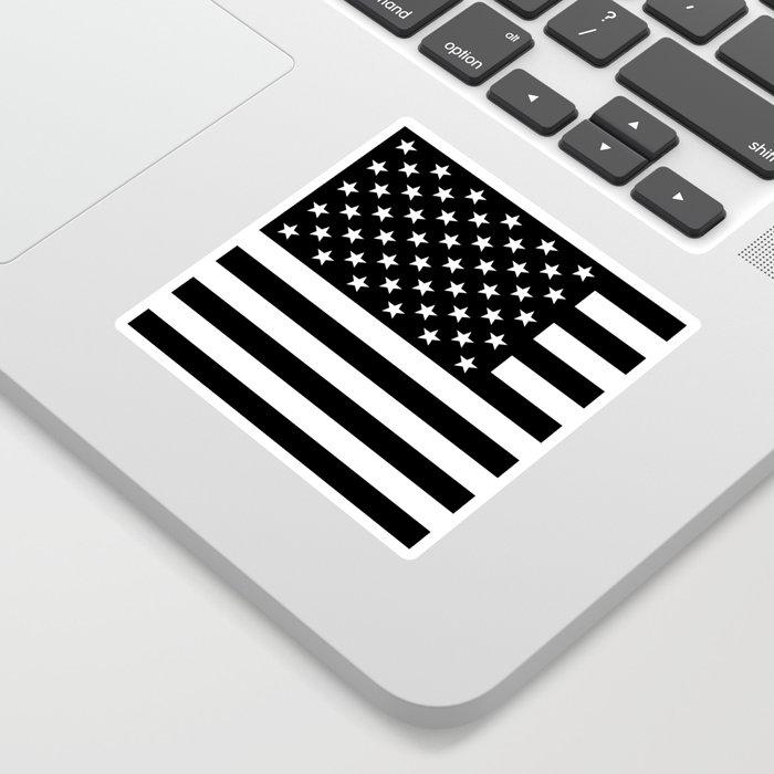 Black And White Stars And Stripes Sticker