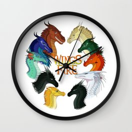 Love Wings of Fire Wall Clock
