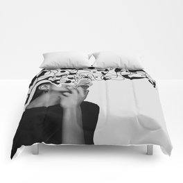 Abstraction - version 6. BW Comforters