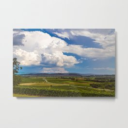 Stormy day in the vineyards of Brda, Slovenia Metal Print