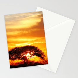 African sunrise Stationery Cards
