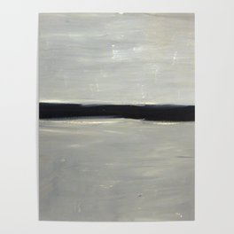 Grey with Black Stripe Poster
