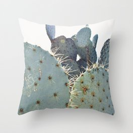 A Cactus Kind of Green Throw Pillow