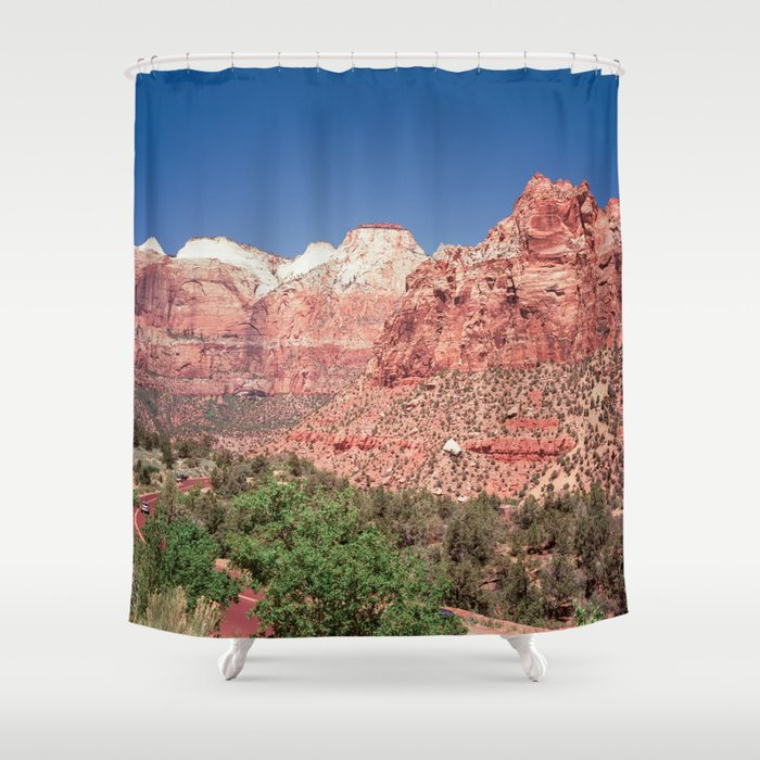 The Walls of Zion Shower Curtain