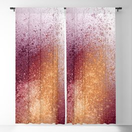 Amber and Maroon Paint Splatter Blackout Curtain