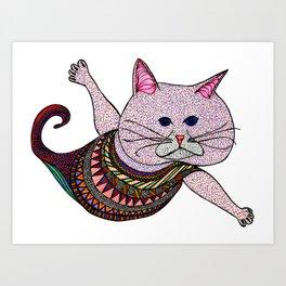 Mer-Kat Meow Art Print