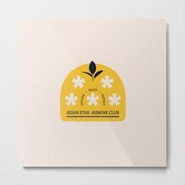 Asian Star Jasmine Club Metal Print