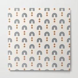 aria - geometric rainbows on cream Metal Print