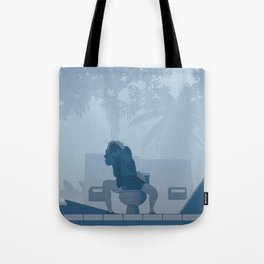 Jurassic Park poster - feat. Donald Gennaro Tote Bag