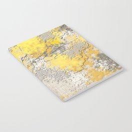 Abstract Yellow and Gray Trees Notebook