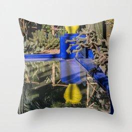 Majorelle Garden Reflection Throw Pillow