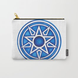 Radial Design Blue No. 3 Carry-All Pouch