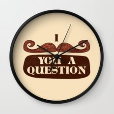 I Mustache You A Question Wall Clock
