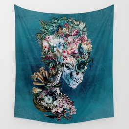 Floral Skull RP Wall Tapestry