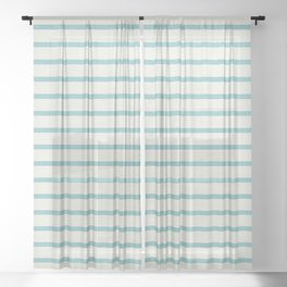 DHURBAN STRIPE AQUA Sheer Curtain