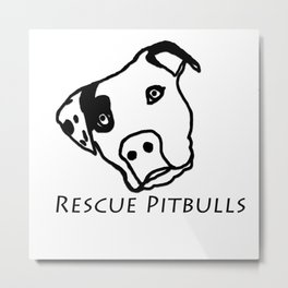 Rescue Pitbulls Logo Metal Print