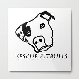 Rescue Pitbulls Logo Metal Print