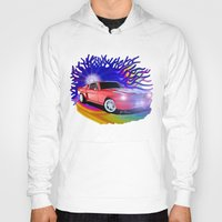 mustang Hoodies featuring 65 Mustang by JT Digital Art